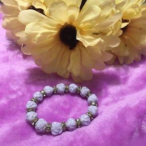 Lavender Roses Style  Bracelet