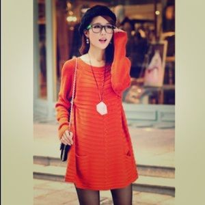Beautiful Orange Sweater Dress ✨EUC✨