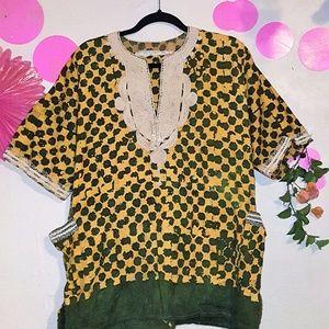 Unisex Dashiki African Tunic Dress Shirt Vintage