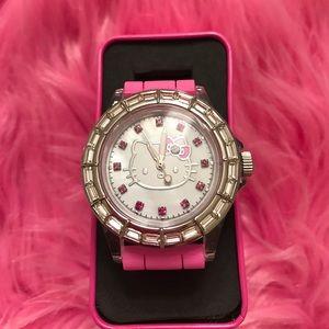 NWT Sanrio hello kitty pink strap watch