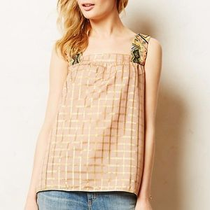 Anthropologie Vineet Bahl Embroidered Beaded Top
