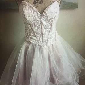 Strapless Formal Homecoming Dress