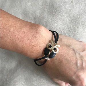 Owl Decoration Faux Leather Bracelets