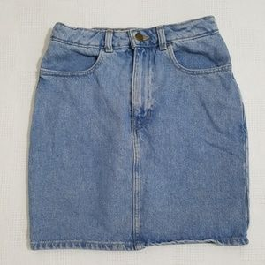 American Apparel High-Waist Denim Mini Skirt Small