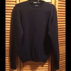 Polo Ralph Lauren Navy Blue Crew Neck Sweater