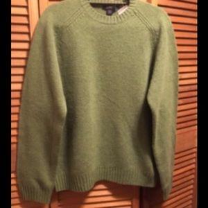 J. Crew Green Crew Neck Sweater
