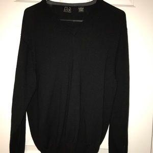 Jos. A Bank men's vneck black sweater- never worn