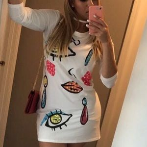 Dresses & Skirts - All Eyez White Tee Dress