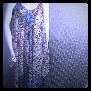Japna handkerchief trapeze dress size small