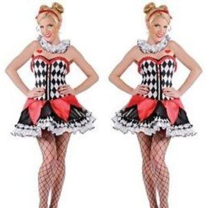 Miss Harlequin Clown Jester Harley Quinn Halloween