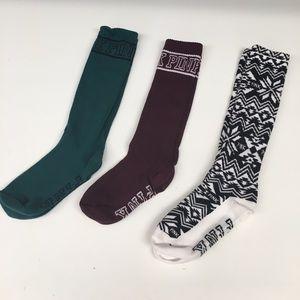 3 Pr VS PINK Socks