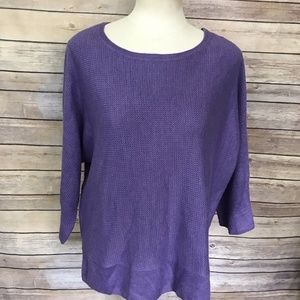 Dana Buchman Purple Sweater