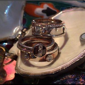 Henri Bendel Connected Stacked Ring