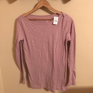 NWT LOFT blush pink tunic long sleeve top XS