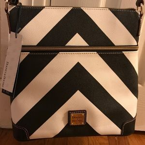 NWT Dooney and Bourke Chevron Crossbody