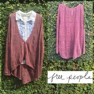 6. (M) Free people new romantics knit cardigan