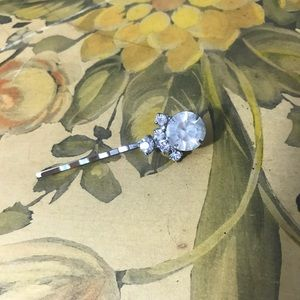 Vintage Art Deco 1920s Rhinestone Hair Pin Vtg