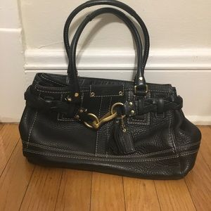 Hampton Braid Coach bag (Black)