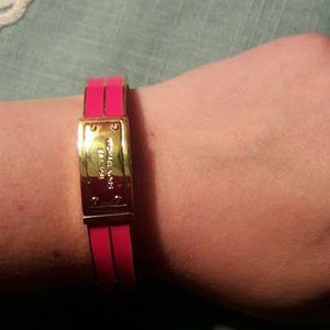 💕💯 Authentic MK bracelet, neon pink💕