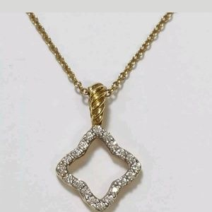 David yurman 18k gold diamonds necklace
