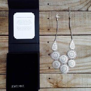 Vintage JewelMint Silver Bling Statement Necklace