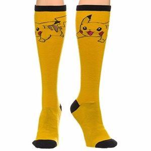 ✨NEW✨ Pokemon Pikachu Yellow Knee High Socks