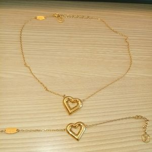 Lv and me necklace