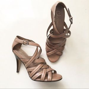 Cole Haan Light Brown Nike Air Strappy Sandals