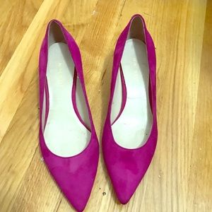 Nine West Smith Suede Pumps - Pink - Size 7
