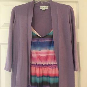 Lane Bryant Dress + Purple Cardigan