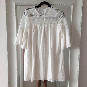 Corey Lynn Calter White Petite Lace Cutout Dress