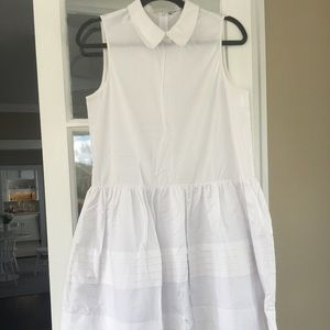 Collared drop waist dress