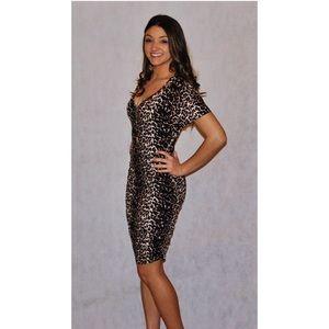Knit leopard dress