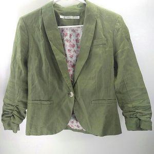 Gibson green linen blazer