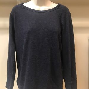 James Perse heathered navy sweatshirt size 4 - XL