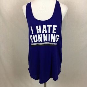 VS PINK I hate running printed graphic tank