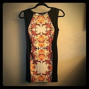 fitted asymmetrical mini dress
