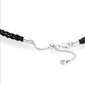 9f8f329cf Pandora Jewelry | Black Woven Fabric Choker Necklace 12532cm | Poshmark