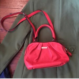 Authentic Kate Spade red coral crossbody  satchel