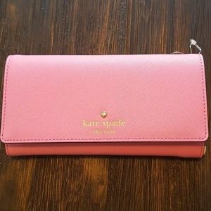 Kate Spade Flamingo pink wallet NEW tag
