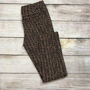 { Cartonnier } Brown Print Skinny Crop Pants
