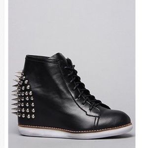 Jeffery Campbell spiked sneaker wedge