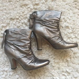 Aldo Pewter Booties Size 41