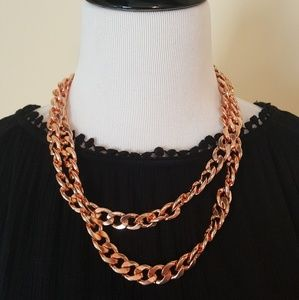 Baublebar Rose Gold color Chain Necklace