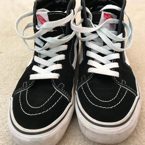 00be298e50 Vans Shoes - B W Hightop Vans