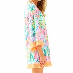 Lilly Pulitzer Getaway Coverup In Fan Sea Pants, M