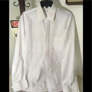 Pierre Cardin 16 34/35 White Dress Shirt