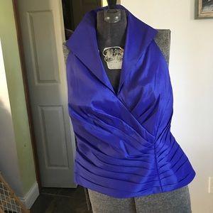 Tadashi blue blouse NWT