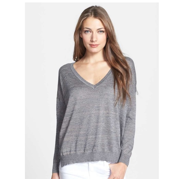 b47ca2bcf9aa Joie Sweaters | Metallic V Neck Sweater S Rayon Poly | Poshmark