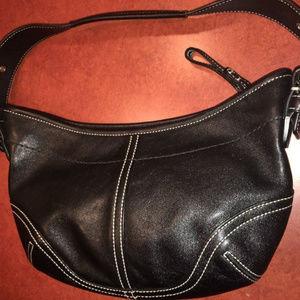 Coach Black Leather Soho Hobo Handbag